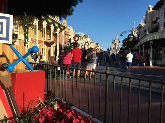 Magic Kingdom Christmas decorations
