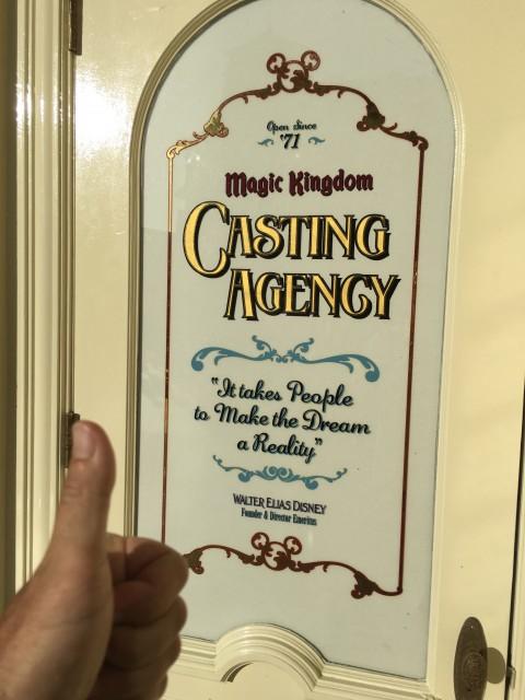 Magic Kingdom Cast Member window on Main Street