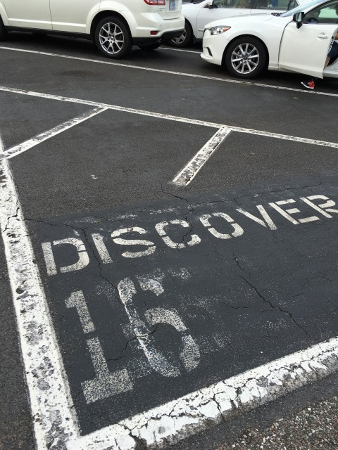 Epcot parking lot row marker