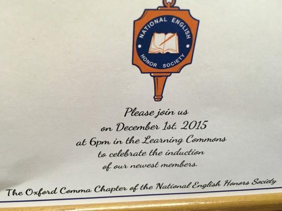 National English Honor Society induction