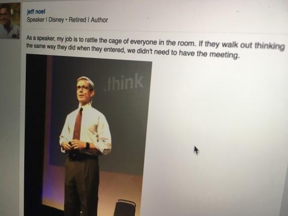 Disney Keynote Speaker jeff noel