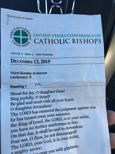 Catholic Mass daily Readings