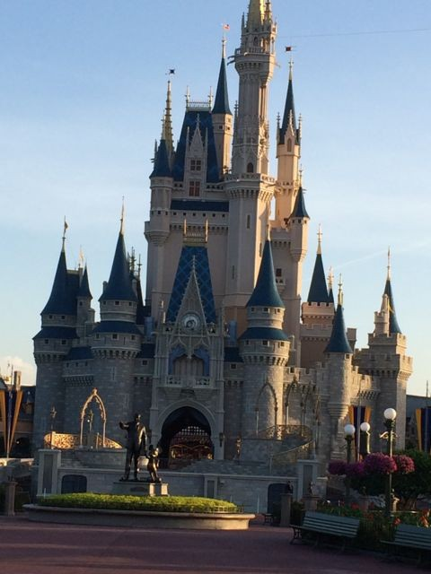 Cinderella Castle at dawn