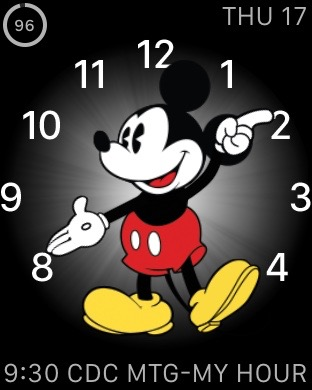 Mickey Mouse on Apple Watch