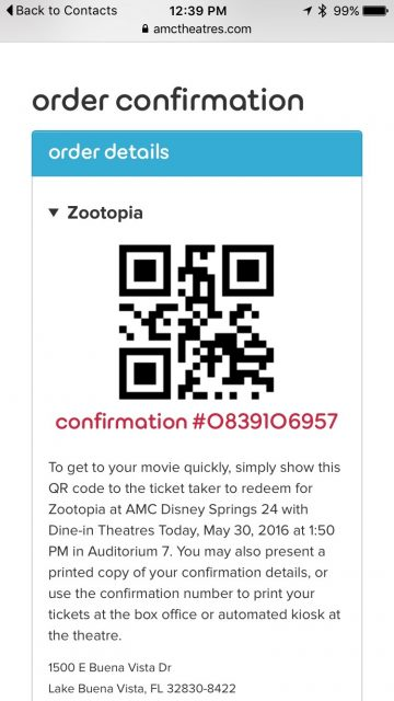 AMC Zootopia ticket