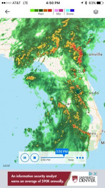 2016 first Florida tropical storm