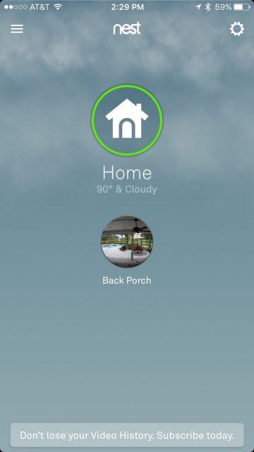 Nest home security cameras
