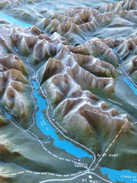 Glacier ariel view