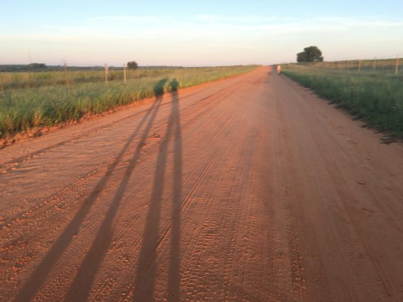 Runner's shadows