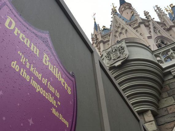 Walt Disney quote on Park sign