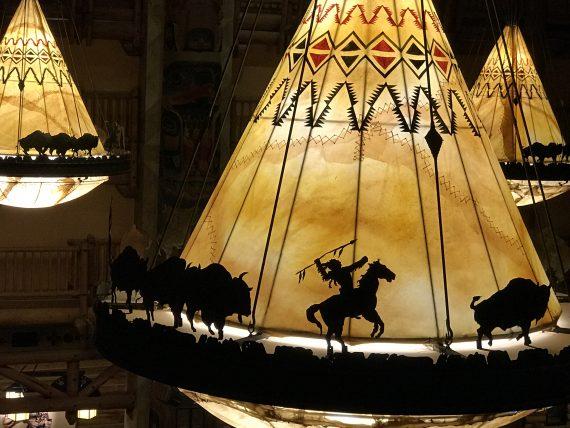 Disney's Wilderness Lodge lobby lights