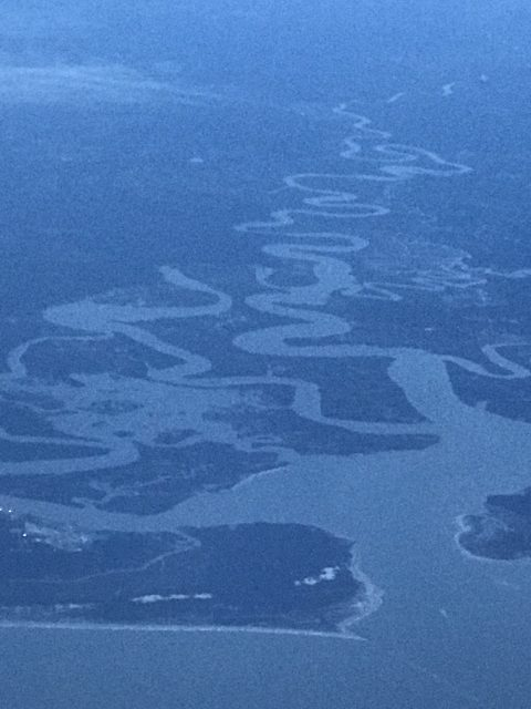 Winding river to the ocean