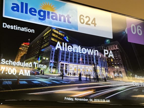 Allegiant Allentown display