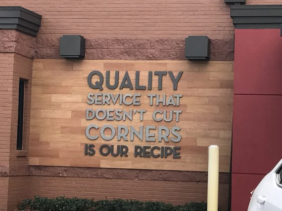 Wendy's service motto