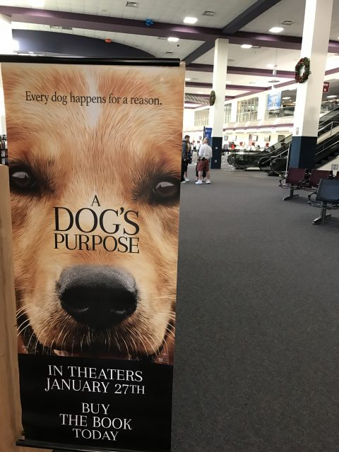 Movie poster in airport