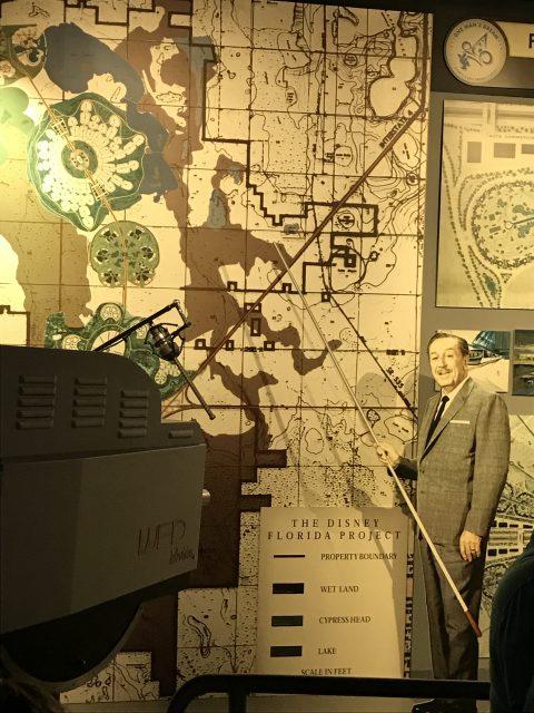 Walt Disney map for Walt Disney World land