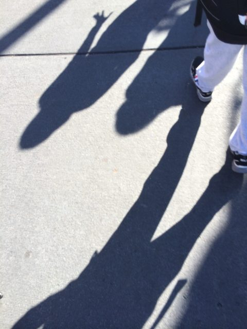 human shadows