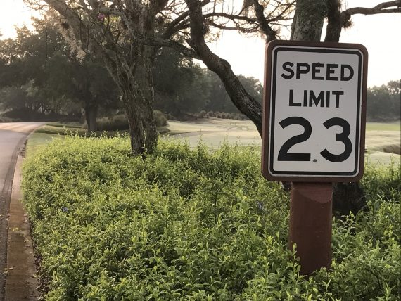 unique speed limit sign