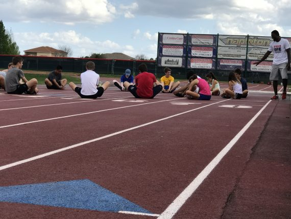High School track practice