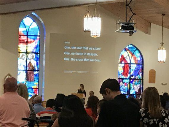 Couple days ago at Pentecost Mass