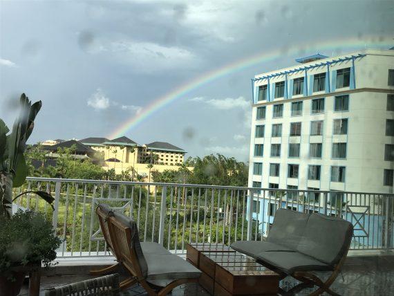 Universal Orlando rainbow