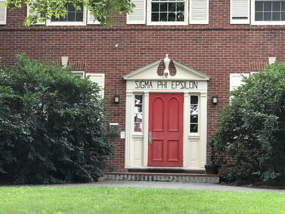 Red Sigma Phi Epsilon door