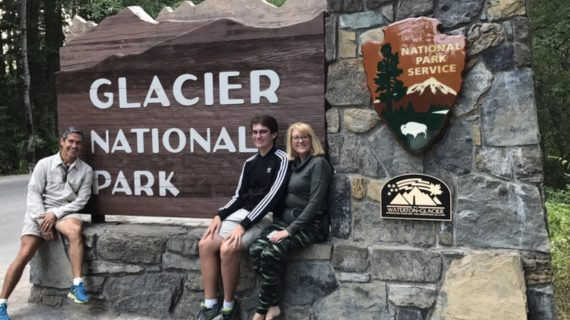 Family at Glacier National Park