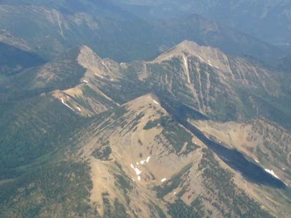Glacier National Park Aerial view