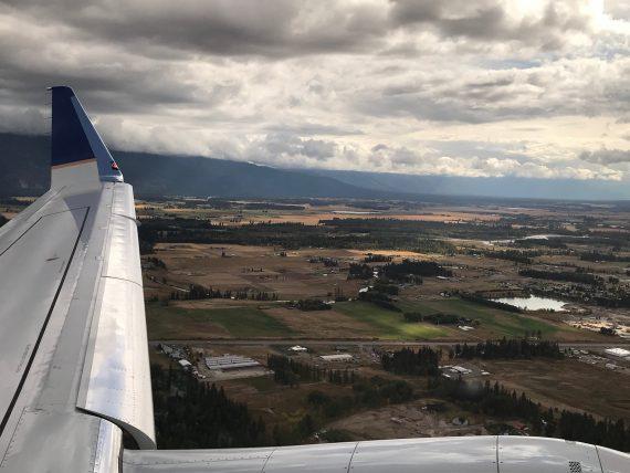 Kalispell from plane
