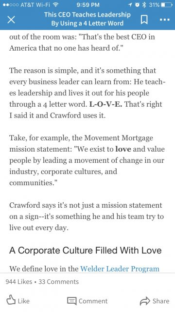 CEO and love