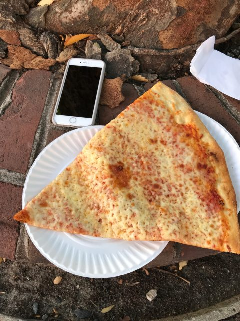 Large slice of pizza in Philly