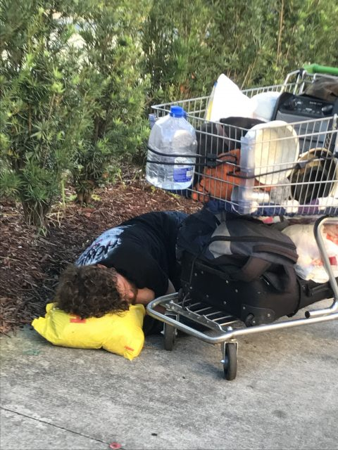 Homeless people near Universal Studios