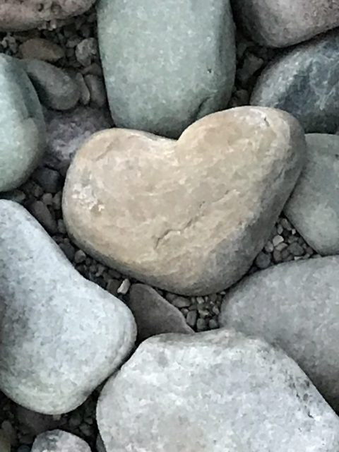 Heart shaped stone