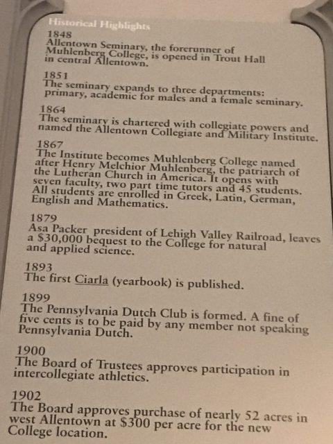 Muhlenberg College history