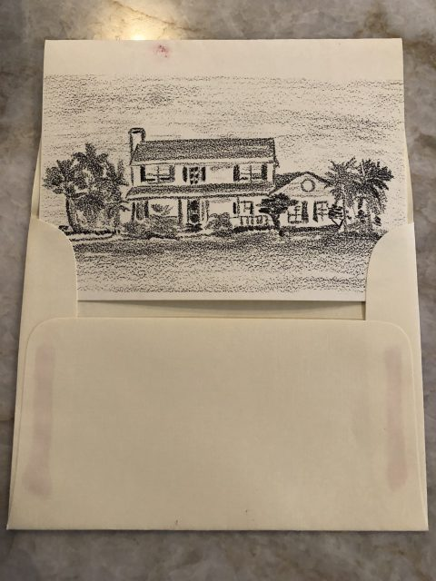 personal sketch of Florida home