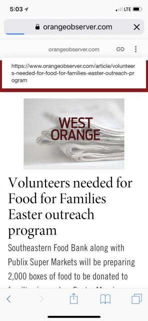 Food for Families 2018