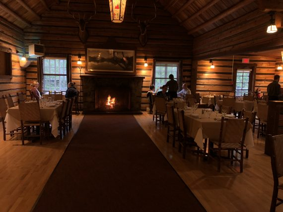 Lake McDonald Lodge dining room