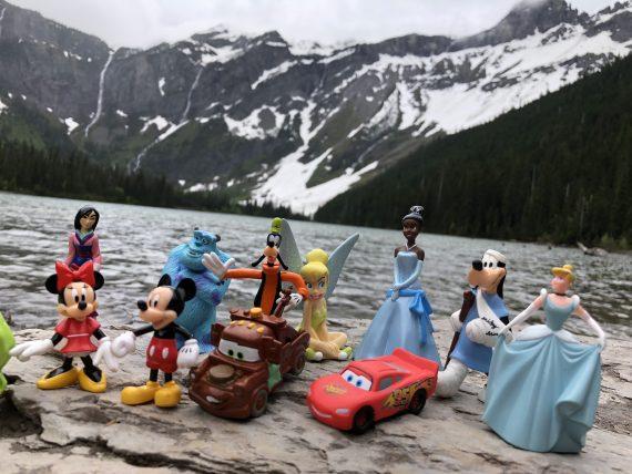 Disney book writing in Glacier park