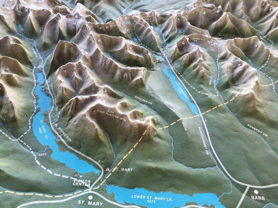 Glacier topo map