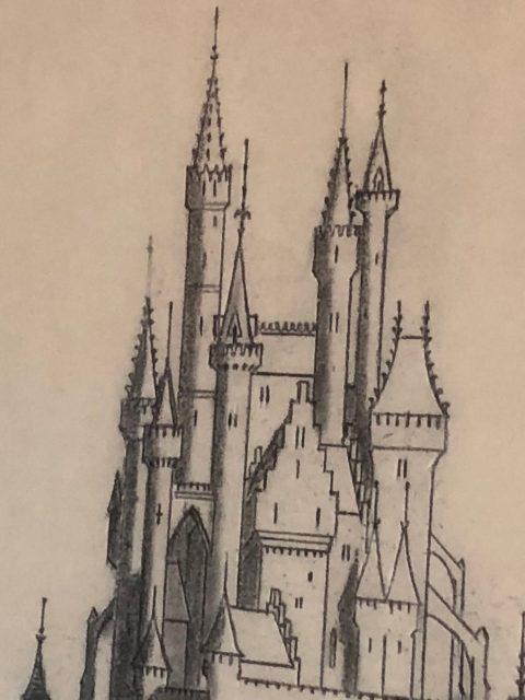 Disney Castle turrets