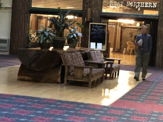 Glacier Park Lodge lobby table