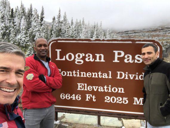 Logan Pass September snow