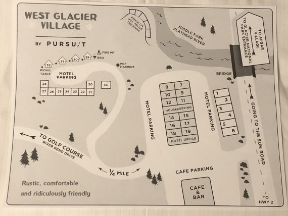 West Glacier Motel map
