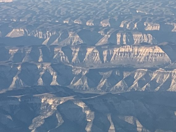 Colorado landscape from a plane