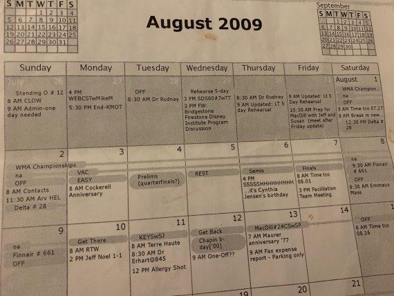 Personal milestones history