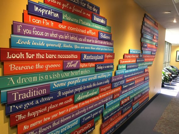 Disney University hallway