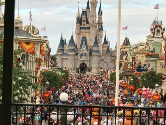 Walt Disney World Main Street at Halloween