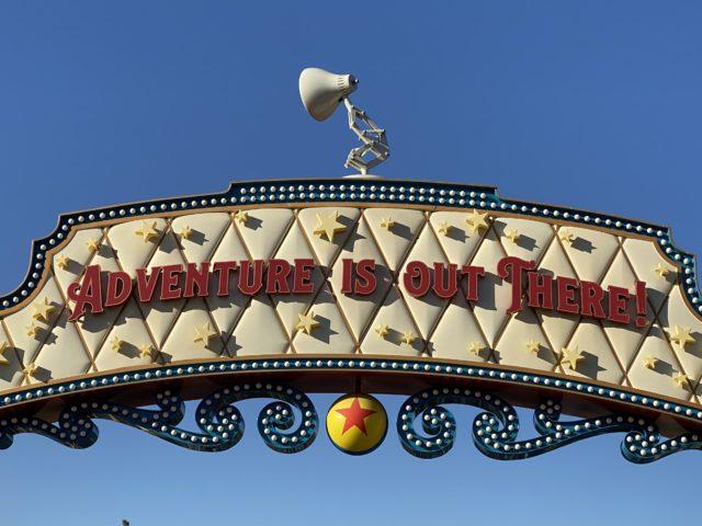 Pixar Pier sign at Disneyland