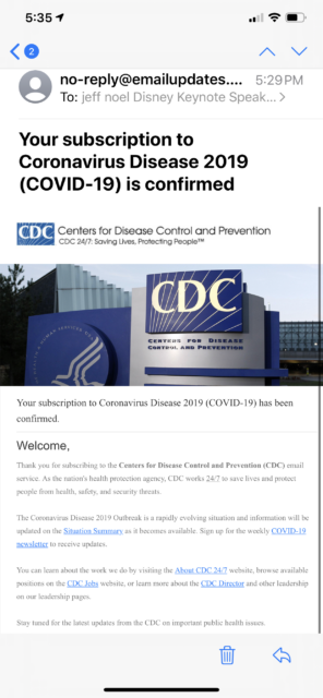 CDC email
