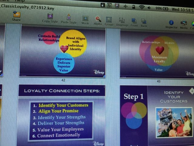 Disney Brand Loyalty former program slides